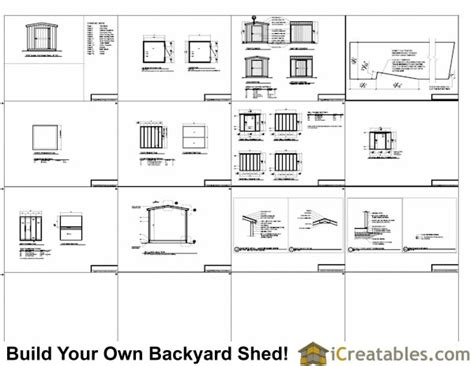 8x8 backyard shed plans icreatables