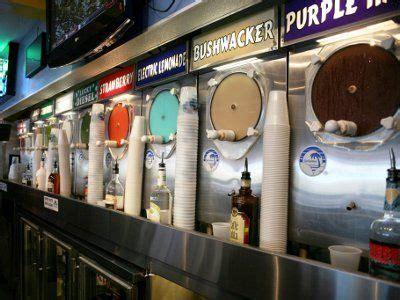 wall of frozen daiquiri machines at daiquiri deck st armands circle venice and siesta key