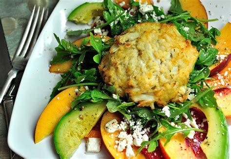 crab cake salad crab cake and heirloom tomato salad a fresh take