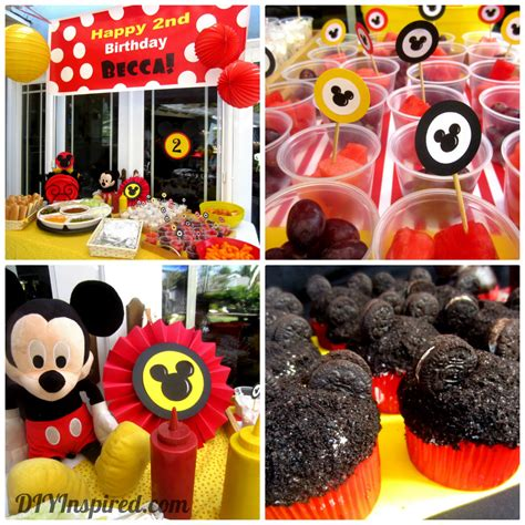 Party Hat Candy Buffet Table Mickey Mouse