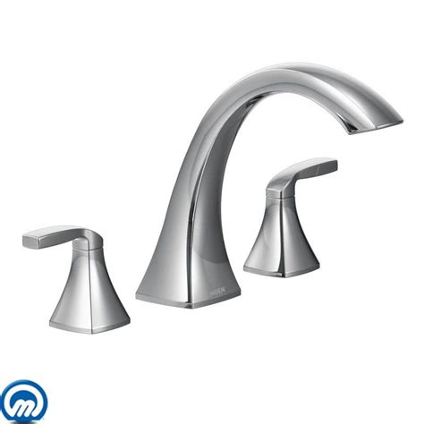 Moen Voss Faucet Direct by Moen T693 Chrome Deck Mounted Tub Faucet Trim From