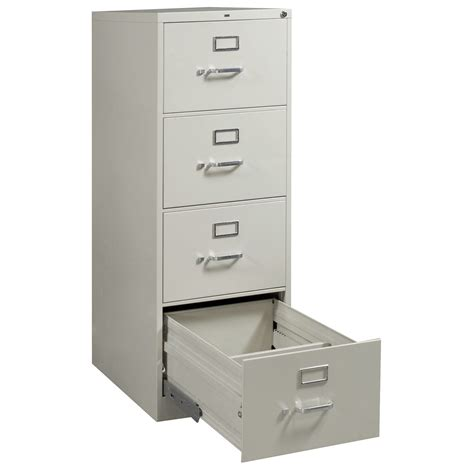 hon used 4 drawer size vertical file light gray national office interiors and liquidators