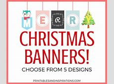 Free Printable Merry Christmas Banners! Printables and