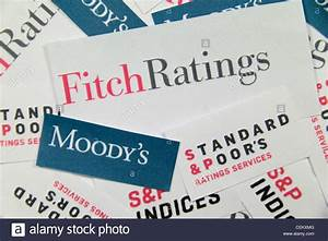 The logos of Fitch Ratings, Moody's and Standard & Poor's ...