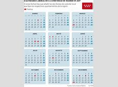 Calendario laboral madrid 2017 2019 2018 Calendar
