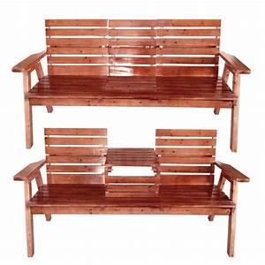 Holzbank Mit Tisch In Der Mitte : sitzbank 2 sitzer 3 sitzer mit tisch hochklappbar f r drau en zuhause garten neu ebay ~ Whattoseeinmadrid.com Haus und Dekorationen