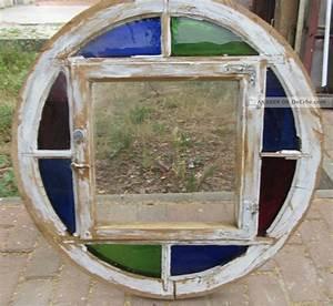 Verspiegeltes Glas Fenster : altes rundes fenster kiefer giebelfenster mit bunten glas restauriert ~ Markanthonyermac.com Haus und Dekorationen