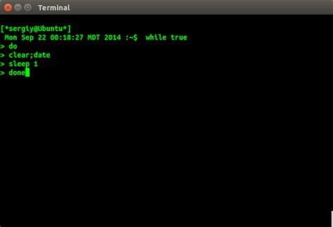 Sleep Command Linux by How To Show A Running Clock In Terminal Before The Command