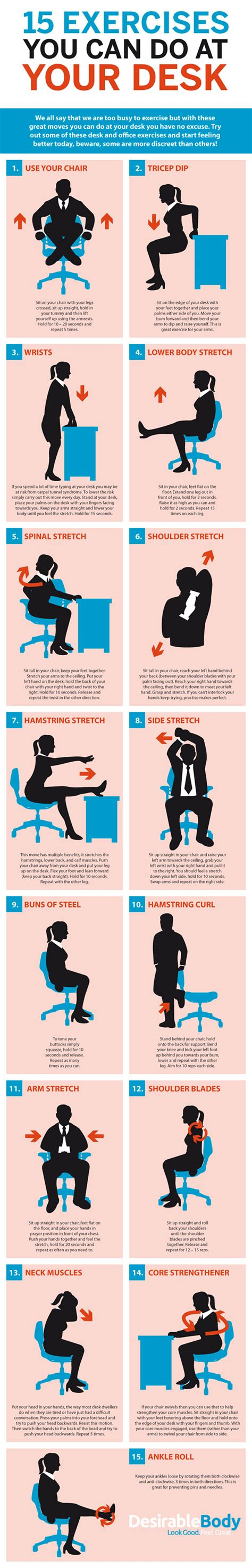 15 Exercises You Can Do At Your Desk  Build Healthy Body. Standing Portable Desk. Stainless Steel Prep Table With Drawers. Paula Deen Desk With Hutch. School Desks. Heywood Wakefield Desk Chair. Desk For Sale Ebay. Picnic Table. White Nightstand With Drawers