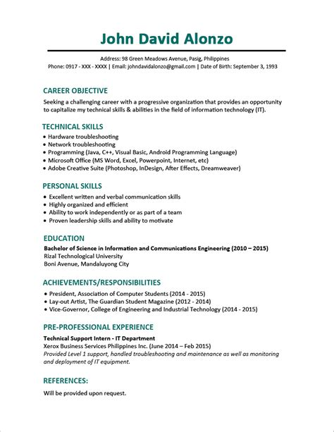 Resume Templates You Can Download  Jobstreet Philippines. Experience For Resume. Logistics Objective Resume. Resume Summary Sample. Mcdonalds Manager Resume Sample. Ses Resume. Resume For Child Actor Beginner. Resume Objective Examples For Restaurant. Interest In Resume Sample
