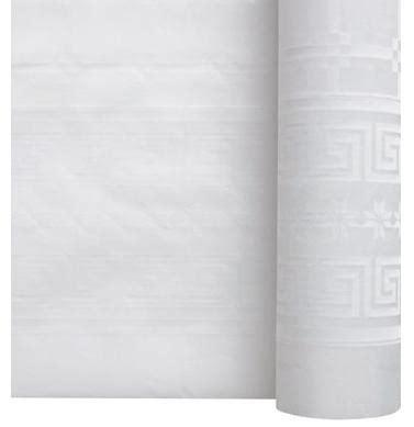 6 rouleaux de nappe papier blanc damasse 1m20x50m nappes