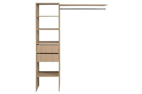 penderie dressing avec 233 tag 232 re et 2 tiroirs de rangement couleur bois design pas cher