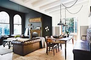 Décoration industrielle et meubles d'époque style vintage.