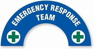 Emergency Response Team Hard Hat Decals Signs, SKU: HH-0200