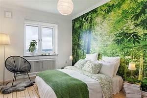 Wandgestaltung Schlafzimmer Lila : wandgestaltung im schlafzimmer 77 ideen zum einrichten ~ Markanthonyermac.com Haus und Dekorationen