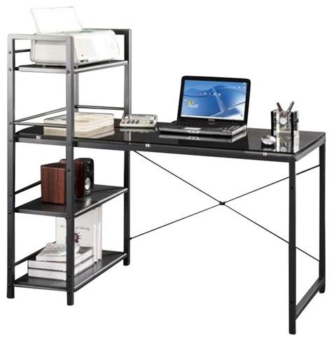techni mobili tempered glass laptop desk in black modern desks and hutches by cymax