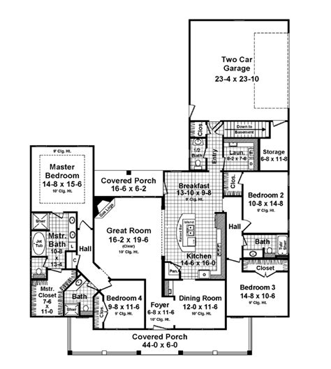 images one level country house plans rear garage house plans smalltowndjs