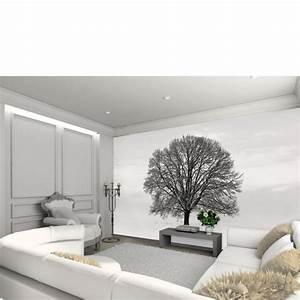 Baum Für Wohnzimmer : schwarze und graue baum silhouette wandbild tapete sowia ~ Markanthonyermac.com Haus und Dekorationen