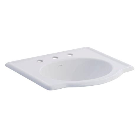 american standard retrospect self drop in bathroom sink in white 0291 008 020 the home