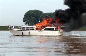 Ottawa Fire Boat by River Ouse Boat Fire Boat Bursts Into Flames And Sinks