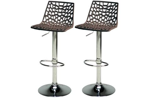 lot de 2 tabourets de bar ajustables marron sparte tabouret de bar pas cher