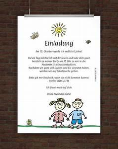 Einladung Kindergeburtstag Gestalten : lustige kindergeburtstagseinladung mit einladungstext ~ Markanthonyermac.com Haus und Dekorationen