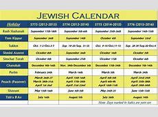 2018 Jewish Calendar Printable Free Calendar Template