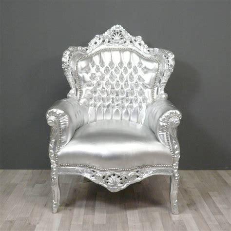 fauteuil baroque argent 233 fauteuils baroques