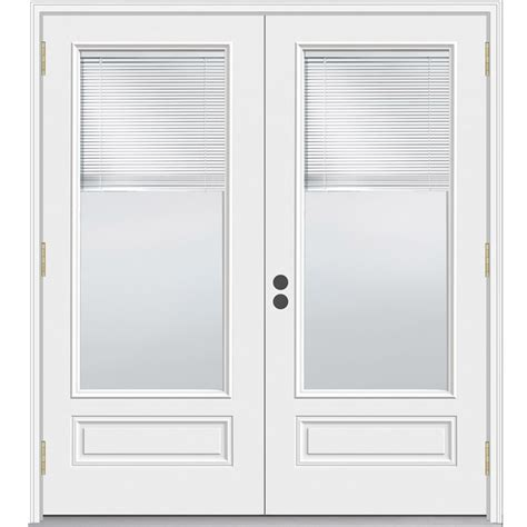 Patio Door With Blinds Between Glass by Shop Jeld Wen 71 5 In Blinds Between The Glass Composite