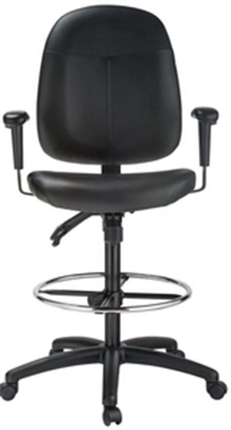 harwick ergonomic leather drafting chair 35 quot high 6058c d l