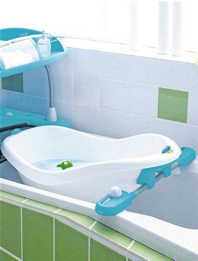 baignoire amovible bebe confort pour duo bain lange lit blanc bleu vertbaudet enfant