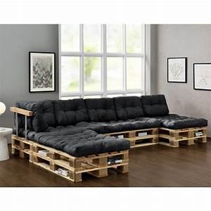 Bauanleitung Paletten Sofa : euro paletten sofa auflage 4x sitz 6x r ckenkissen dunkelgrau kissen hausboot ~ Markanthonyermac.com Haus und Dekorationen
