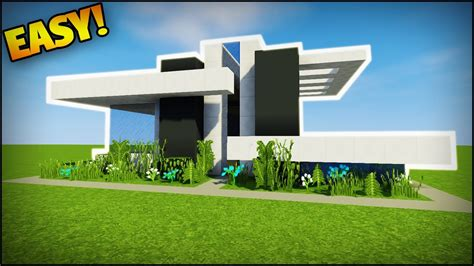 Minecraft How To Build A Modern House #4  Easy Tutorial