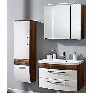 Spiegelschrank Weiß Holz : badm bel set 3 teilig wei hochglanz walnuss holz optik badezimmer komplettset spiegelschrank ~ Markanthonyermac.com Haus und Dekorationen