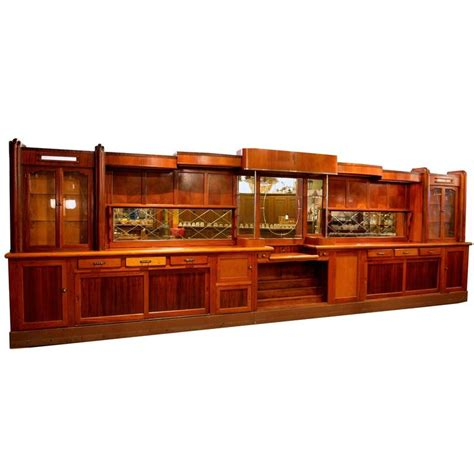 original 1920s mahogany deco front and back bar at 1stdibs