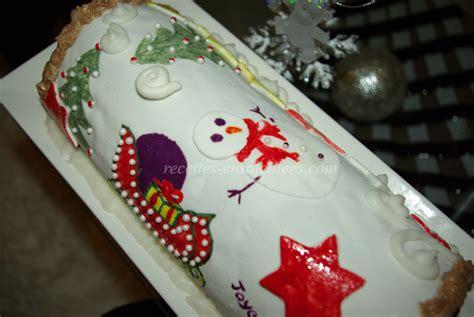 decoration buche de noel pate a sucre