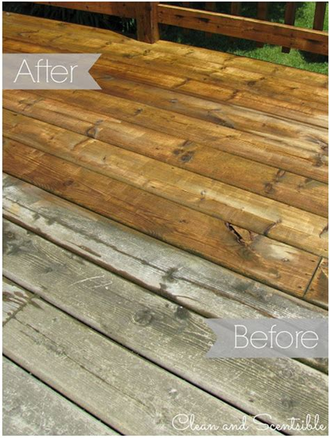 how to clean your wood deck our home sweet home
