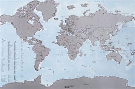 une carte du monde qui vous permet de gratter tous les pays que vous avez visit 233 s