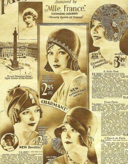 beautiful 20s deco flapper hats vintage advertisements deco design