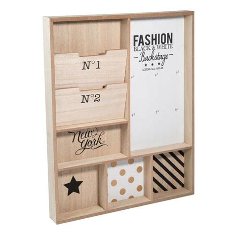 porte courrier mural en bois blackstage maisons du monde my workspace