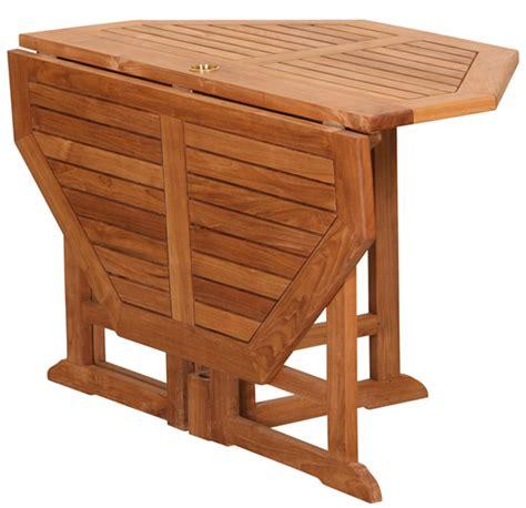 table octogonale pliante en teck massif 120x120x75cm