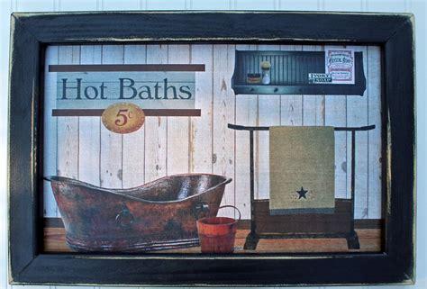 primitive rustic southwest country farm house bathroom bath decor wall sign ebay