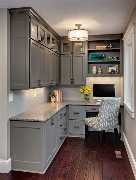 17+ Gray Home Office Furniture, Designs, Ideas, Plans