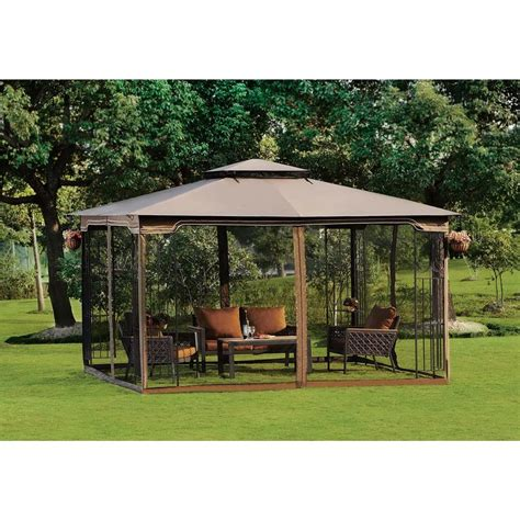 Mosquito Net Canopy For Outdoor Umbrella by Screened Canopy Gazebo Mosquito Free Net Outdoor Dine