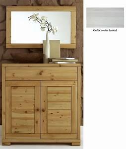 Kommode Weiß Massivholz : massivholz kommode spiegel flurm bel dielenm bel set wei kiefer massiv ~ Markanthonyermac.com Haus und Dekorationen