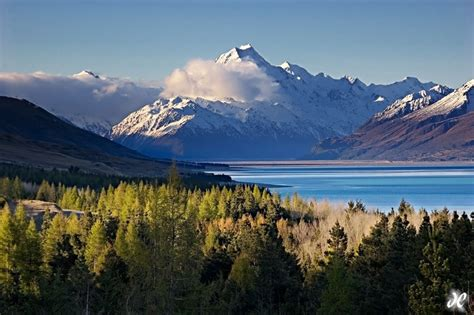Aoraki Over Lake Pukaki, New Zealand  Joshua Cripps