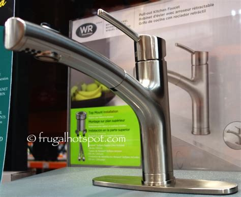 costco sale water ridge style pull out kitchen faucet 48 99 frugal hotspot