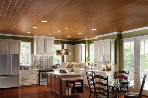 woodhaven ceiling planks for open kitchens modern