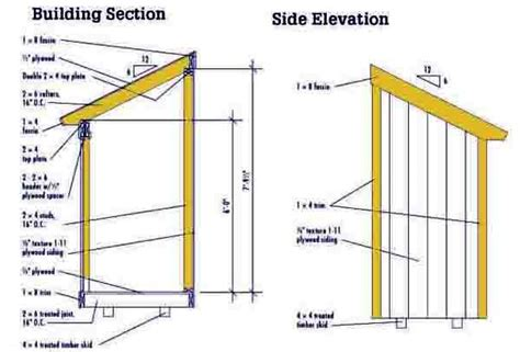 slant roof shed plans 4 215 6 lean to shed plans blueprints for a small shed
