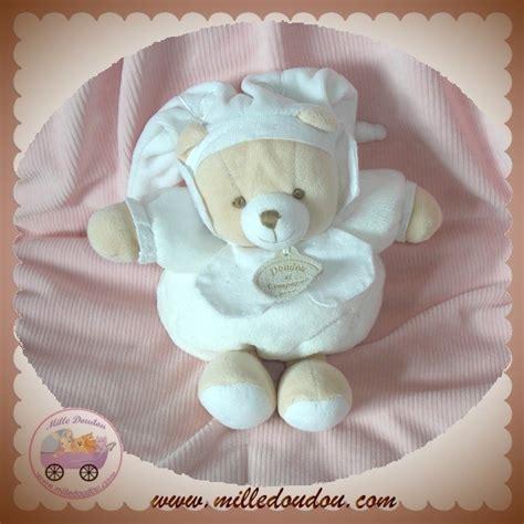 doudou et compagnie sos ours papou pouf blanc